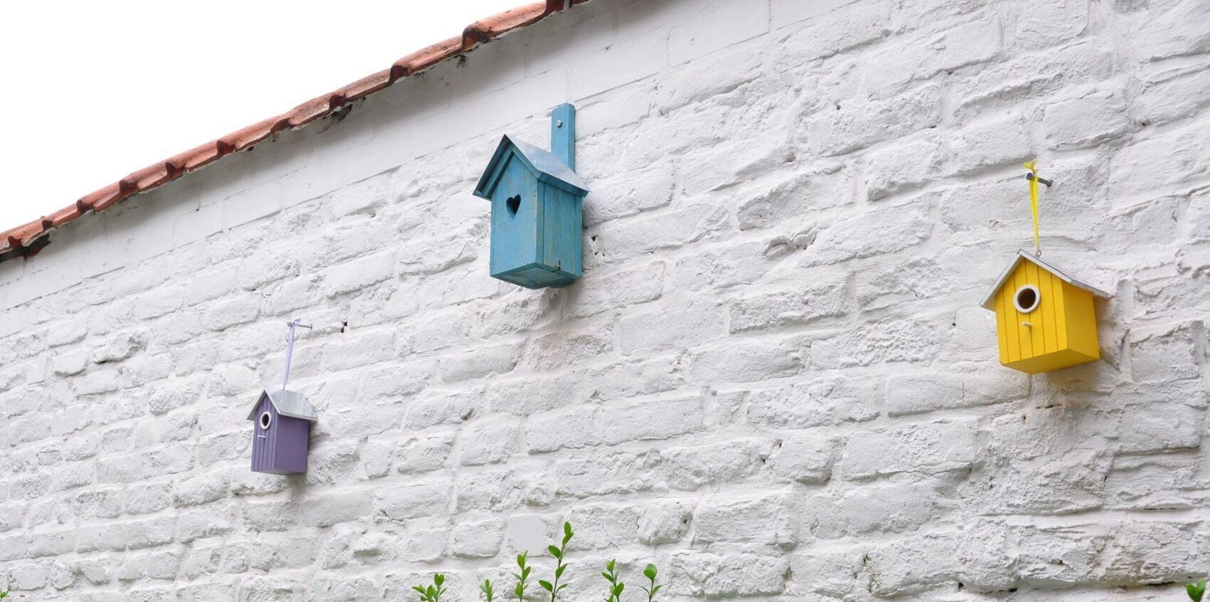 Afbeelding van vogelhuisjes