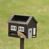 Wildlife Garden vogelvoederhuis met bad zwart