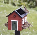 Wildlife Garden vogelvoederhuis met bad rood