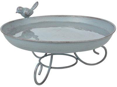 Esschert Design Grey Metal vogelbad op voet
