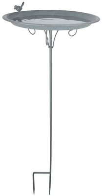 Esschert Design Grey Metal vogelbad op pin
