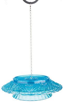 Esschert Design feedingbell ruitjesglas blauw