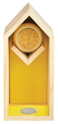Esschert Design pindakaas/voederhuis geel