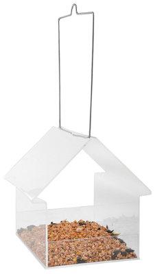 Esschert Design acryl hangende voedertafel huis