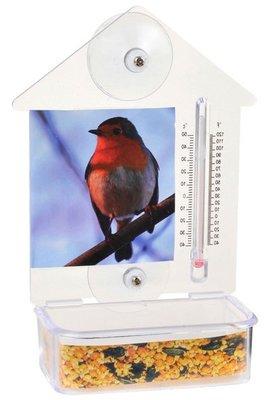 Lifetime Garden raamvoederbak & thermometer