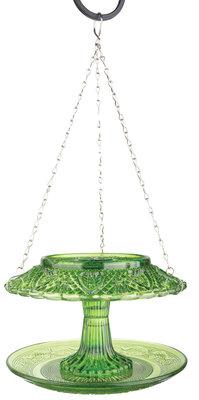 Esschert Design voederhuis ruitjesglas groen