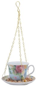 Esschert Design vogelvoeder theekop in giftbox blauw