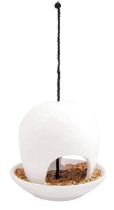 Esschert Design vogelvoederhuis keramiek wit
