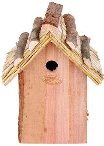 Esschert Design pimpelmees nestkast rieten dak
