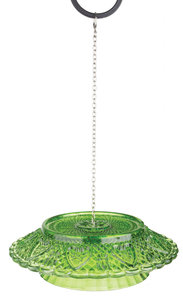 Esschert Design feedingbell ruitjesglas groen
