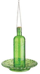Esschert Design vintage voederfles ruitjesglas groen