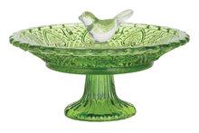 Esschert Design vogelbad ruitjesglas groen